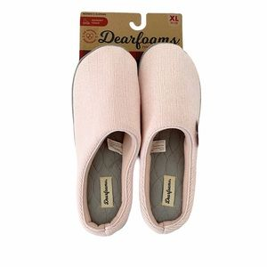 Dearforms chenille Clog Slippers with Memo…